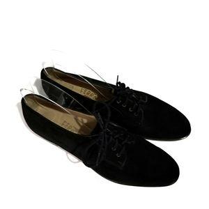 Salvatore Ferragamo Suede Oxford Shoes Size 8.5 2A